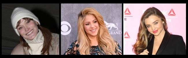 Ji çepê: Carla Bruni, Shakira û Miranda Kerr